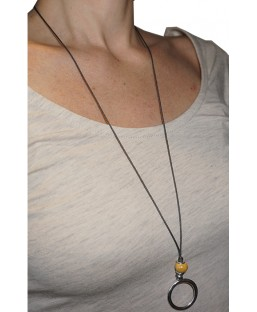 Collier multi-positions jaune Baïn Création Bijoux MP00000097