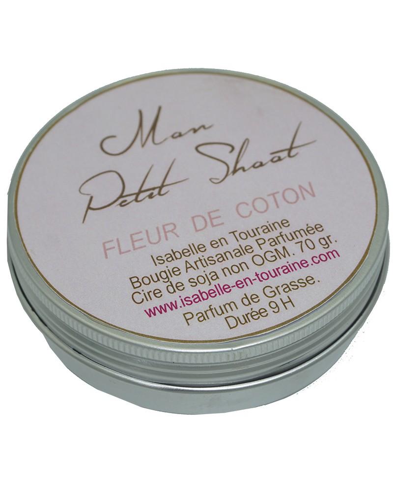 Bougie Artisanale Parfumee A La Fleur De Coton Pour 4 Soirees Olfactives