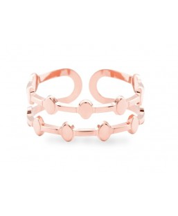 Bague Or Rose Ajustable Les Partisanes Femme MP00000546