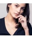 Collier en Or Rose avec Cristal de Swarovski Noir Les Partisanes Femme MP00000554