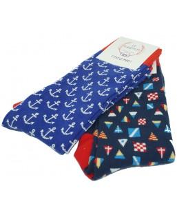2 paires de chaussettes esprit marin Le Flageolet Coffrets  MP00000592