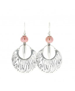 Boucles d'oreille savane rose Baïn Création Bijoux MP00000079