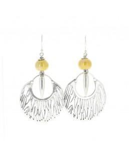 Boucles d'oreille savane jaune Baïn Création Bijoux MP00000080