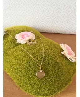 Parure Bague multirang et collier avec cristal de Swarovski blanc Les Partisanes Coffrets  MP00000611