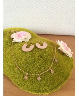 Parure Créoles et collier en or rose Les Partisanes Coffrets  MP00000602