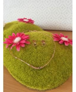 Parure Boucles d'oreilles et collier or rose Les Partisanes Coffrets  MP00000601