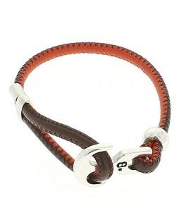 Bracelet ancre cuir rouge /gris Bô-bijoux Bijoux MP00000107