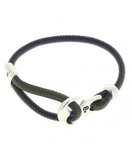 Bracelet ancre cuir kaki /marine Bô-bijoux Bijoux MP00000108