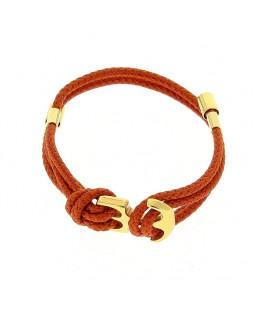 Bracelet double ancre dorée orange Baïn Création Bijoux MP00000114