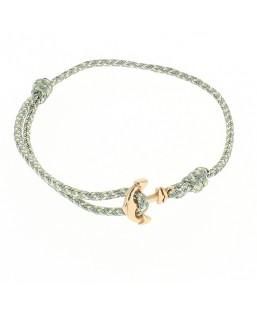 Bracelet ancre dorée cordage gris-bleu Baïn Création Bijoux MP00000119