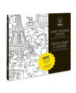 Poster de Paris à colorier Omy Enfant MP00000125