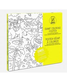 Poster Dinosaures à colorier Omy Enfant MP00000126