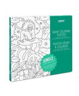 Poster jungle à colorier Omy Enfant MP00000130