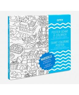Poster Marseille à colorier Omy Enfant