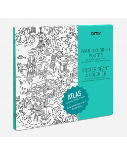 Poster Atlas à colorier Omy Enfant MP00000136
