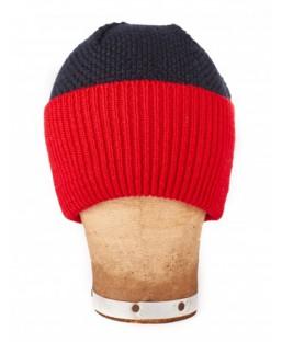 bonnet large revers à bord rouge Le Flageolet Homme