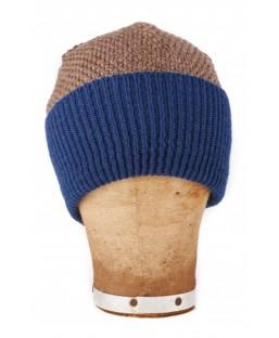 bonnet large revers à bord bleu Le Flageolet Homme