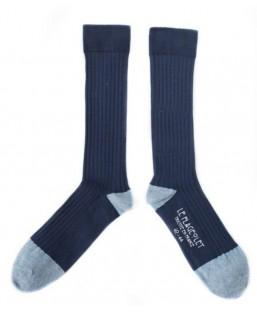 chaussettes côtelées unies bleu marine Le Flageolet Chaussettes MP00000179