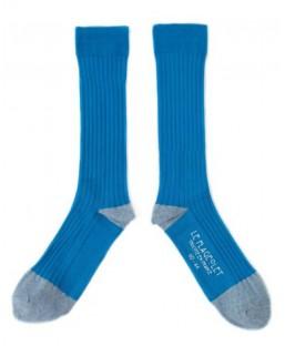 chaussettes côtelées unies bleues Le Flageolet Chaussettes MP00000178