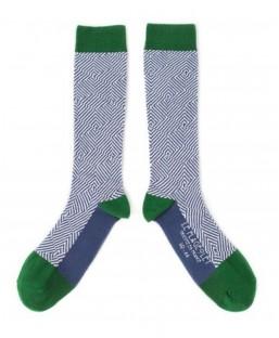 chaussettes graphiques vertes Le Flageolet Chaussettes MP00000185