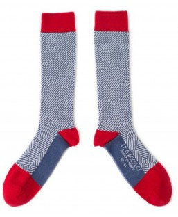 chaussettes graphiques rouges Le Flageolet Chaussettes MP00000187