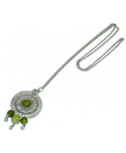 sautoir bohème vert Baïn Création Bijoux MP00000208