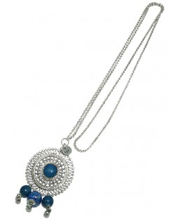 sautoir bohème bleu Baïn Création Bijoux MP00000210