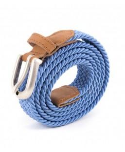 ceinture tressée bleu clair Vertical l'Accessoire Femme