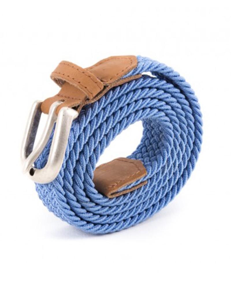 9dd3bdedeff ceinture tressée bleu clair Vertical l Accessoire Femme