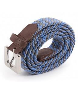 ceinture tressée bleu,gris Vertical l'Accessoire Femme MP00000229