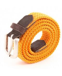 ceinture tressée orange Vertical l'Accessoire Femme