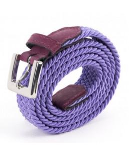ceinture tressée violet Vertical l'Accessoire Femme