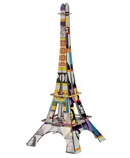 Tour Eiffel Pop Art 18 cm La plume de Louise Maison