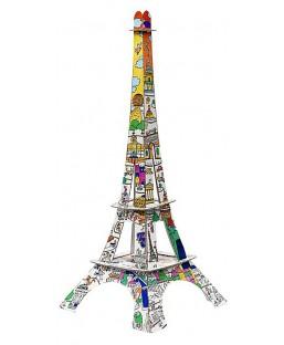 Tour Eiffel à colorier 50 cm La plume de Louise Maison