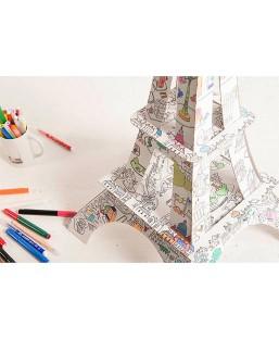 Tour Eiffel à colorier 1m La plume de Louise Maison  MP00000251